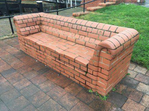 Brick couch