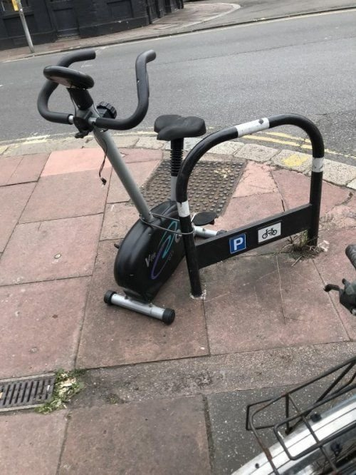 Locked exercise bike
