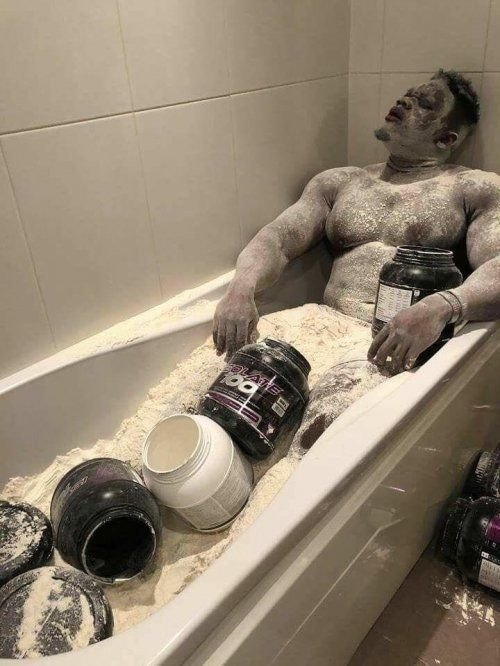 Protein powder bath
