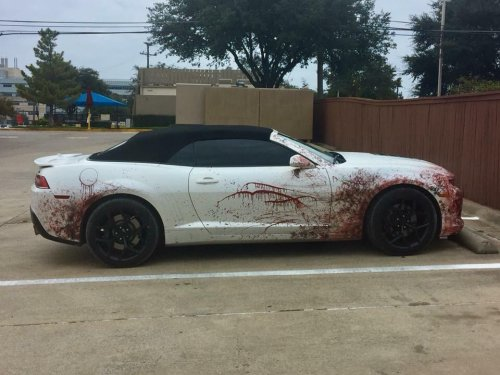 Bloody car paintjob