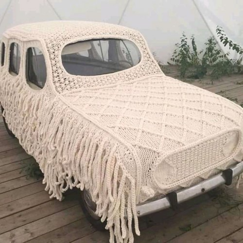 Crochet car cover