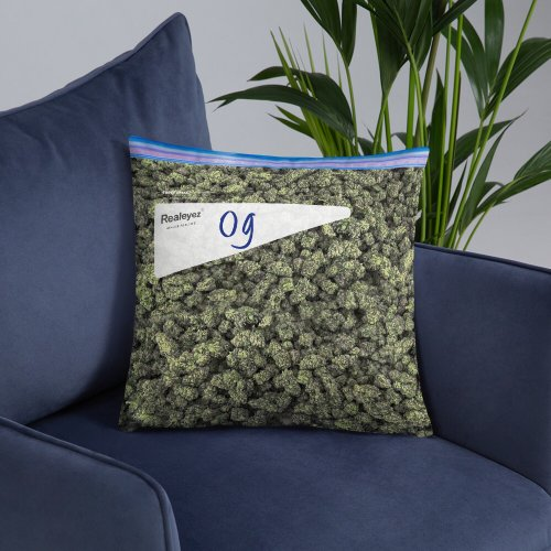 Weed bag pillow